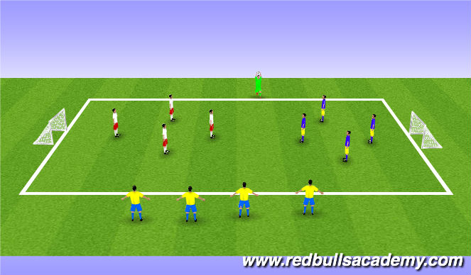 Football/Soccer Session Plan Drill (Colour): Berkeley Heights Cup