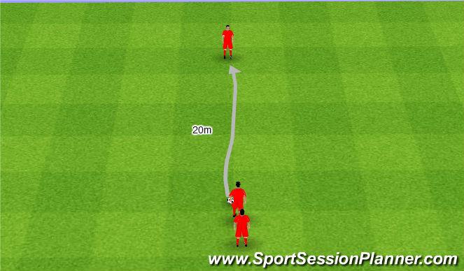 Football/Soccer Session Plan Drill (Colour): Głowa do góry podczas prowadzenia piłki.