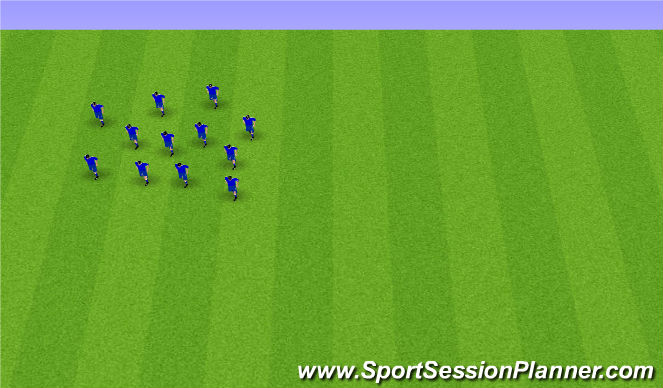 Football/Soccer Session Plan Drill (Colour): Endurheimt