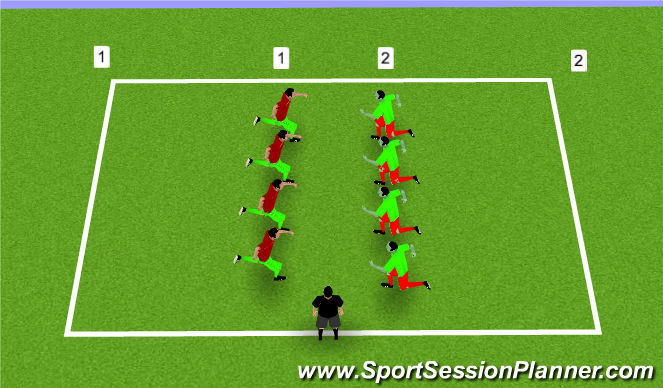 Football/Soccer Session Plan Drill (Colour): Rats and Rabbits