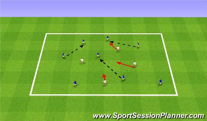 Football/Soccer Session Plan Drill (Colour): Tag Warm up - Passing & Receiving
