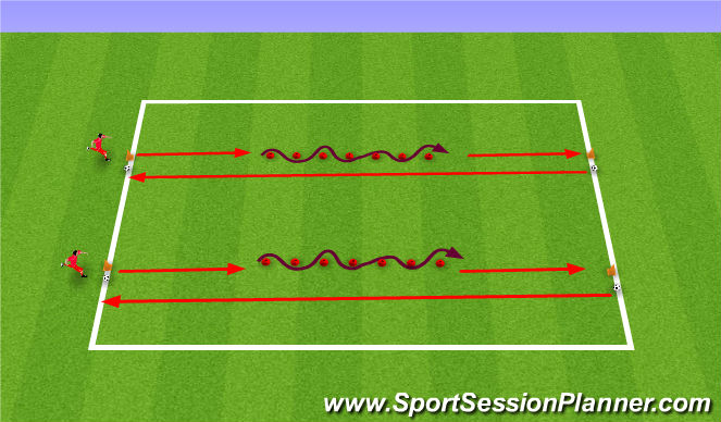 Football/Soccer Session Plan Drill (Colour): SAQ Circuit