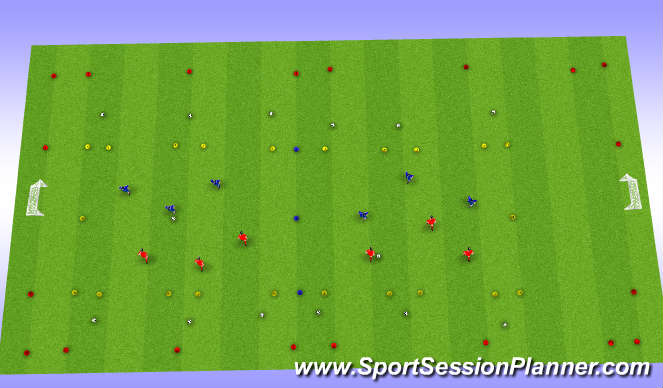 Football/Soccer Session Plan Drill (Colour): Game related 1