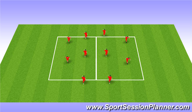 Football/Soccer Session Plan Drill (Colour): Dyanmic Warm Up