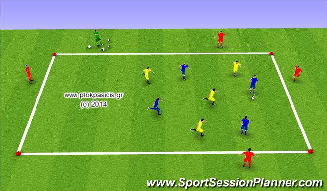 Football/Soccer Session Plan Drill (Colour): Άσκηση 1