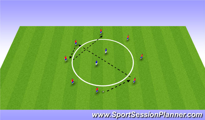 Football/Soccer Session Plan Drill (Colour): Arrival & warm up