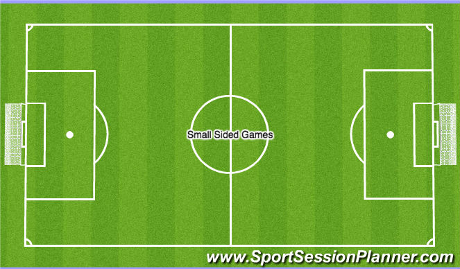 Football/Soccer Session Plan Drill (Colour): Conditioned SSGs