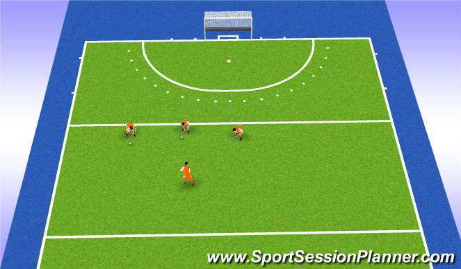 Hockey Session Plan Drill (Colour): Pass ready
