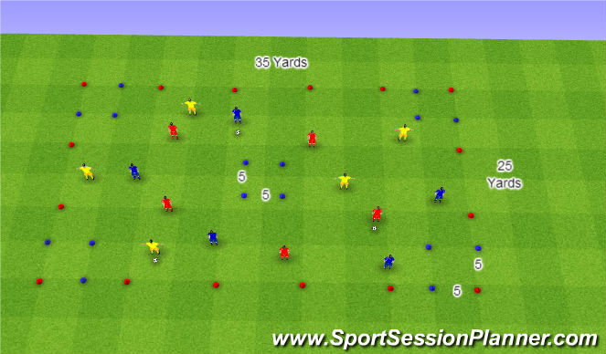 Football/Soccer Session Plan Drill (Colour): Variable Passing