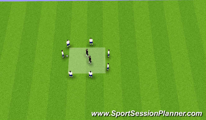 Football/Soccer Session Plan Drill (Colour): 7v2