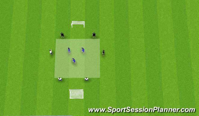 Football/Soccer Session Plan Drill (Colour): 6v3