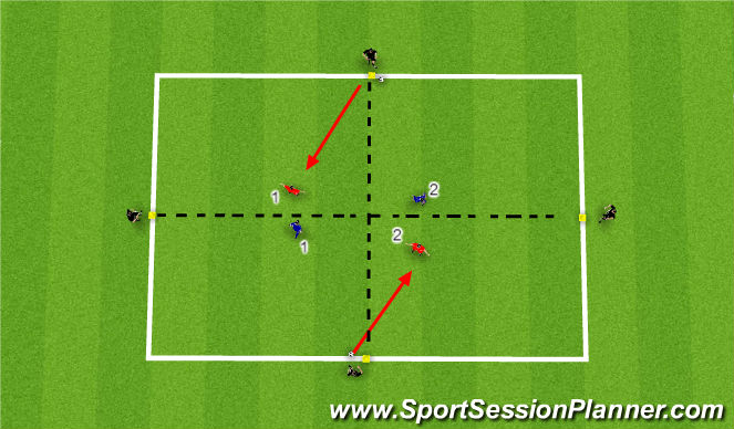 Football/Soccer Session Plan Drill (Colour): Receiving, passing & finding space