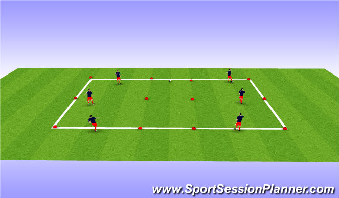 Football/Soccer Session Plan Drill (Colour): Advanced technical