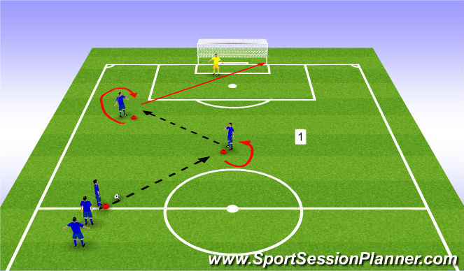 Football/Soccer Session Plan Drill (Colour): Passing Patterns - Both Feet