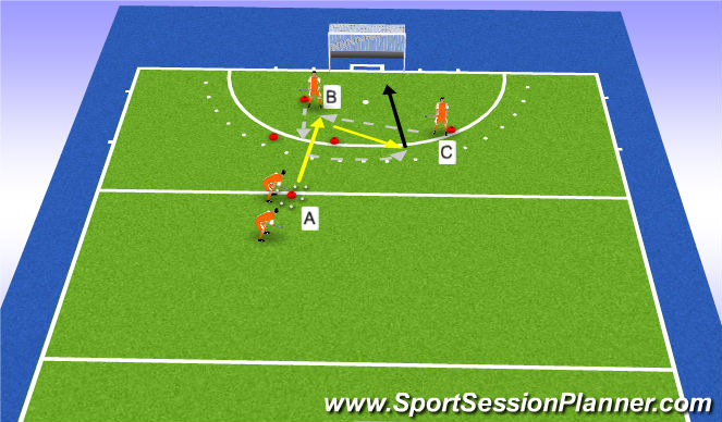 Hockey Session Plan Drill (Colour): fake aanname