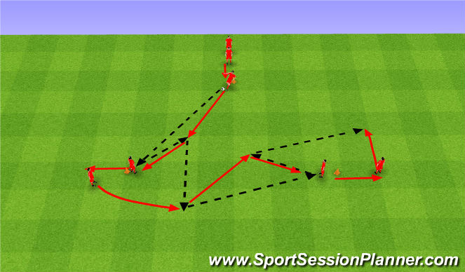 Football/Soccer Session Plan Drill (Colour): Passing Drills. Ćwiczenie z podaniem.