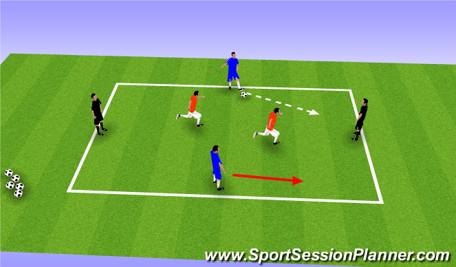Football/Soccer Session Plan Drill (Colour): Rondos 4v2