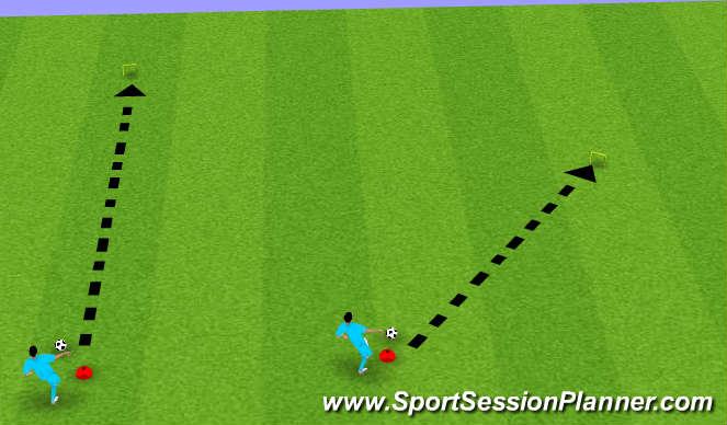 Football/Soccer Session Plan Drill (Colour): Soccer-Golf