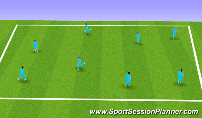 Football/Soccer Session Plan Drill (Colour): Flag-Tag Warrior Game