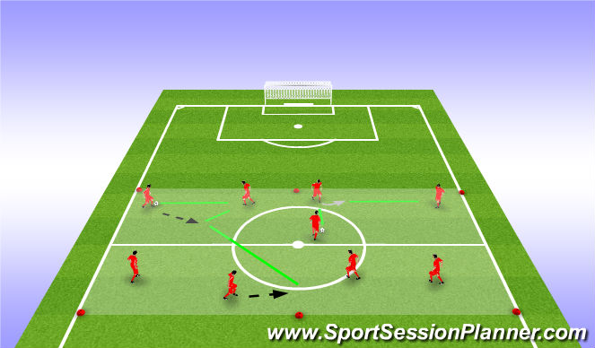 Football/Soccer Session Plan Drill (Colour): WU | balaanname en passing
