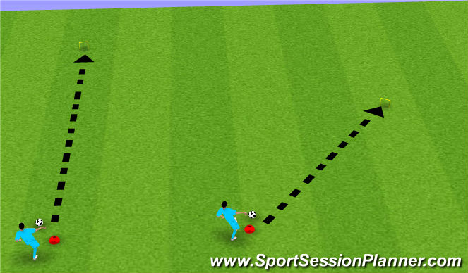 Football/Soccer Session Plan Drill (Colour): Soccer-Golf