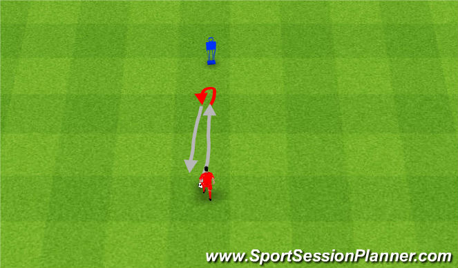 Football/Soccer Session Plan Drill (Colour): Foot on turn.