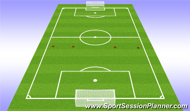 Football/Soccer Session Plan Drill (Colour): Build out of back game with transition