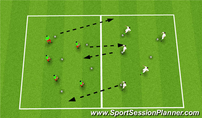 Football/Soccer Session Plan Drill (Colour): Balls Galore