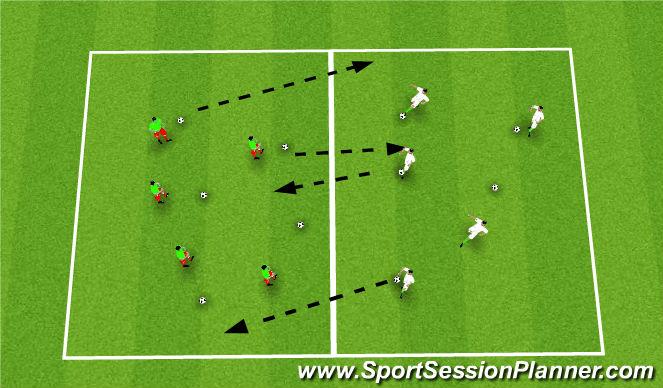 Football/Soccer Session Plan Drill (Colour): Balls Galore
