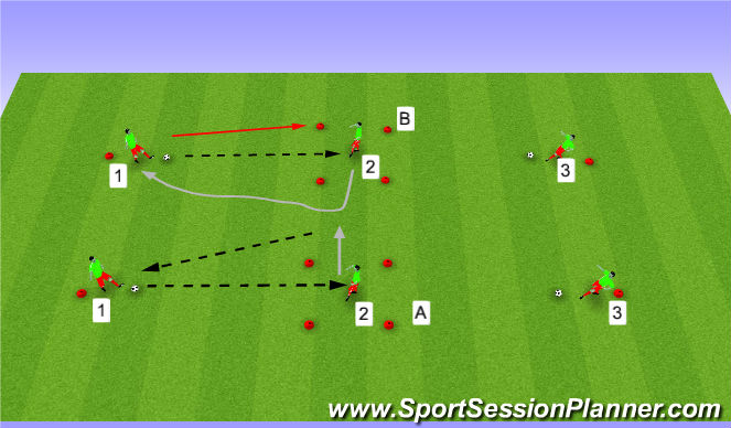 Football/Soccer Session Plan Drill (Colour): Take it off line