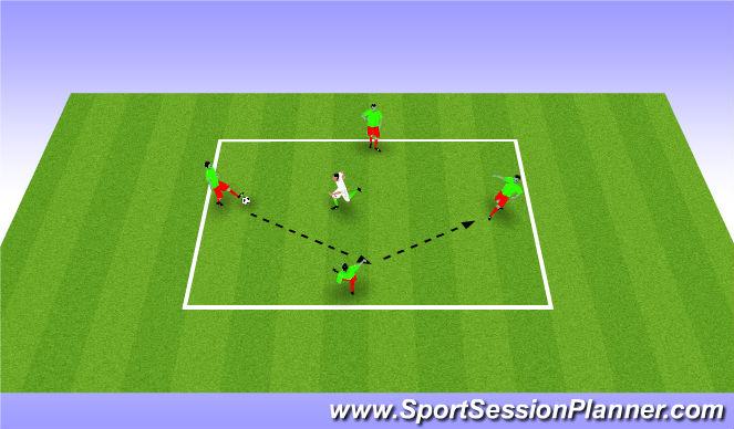 Football/Soccer Session Plan Drill (Colour): 4 v 1