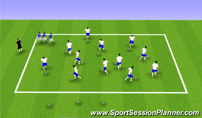 Football/Soccer Session Plan Drill (Colour): Snake Tag