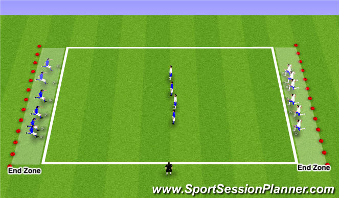 Football/Soccer Session Plan Drill (Colour): Technical Exercise Dribble