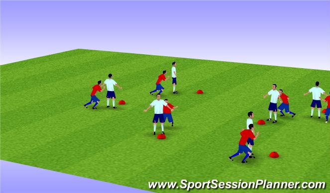 Football/Soccer Session Plan Drill (Colour): Shielding
