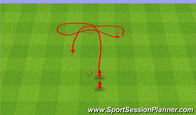 Football/Soccer Session Plan Drill (Colour): T-Drill