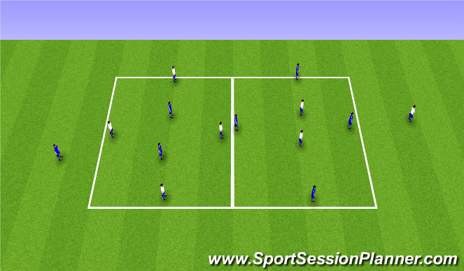 Football/Soccer Session Plan Drill (Colour): 4v2 competition