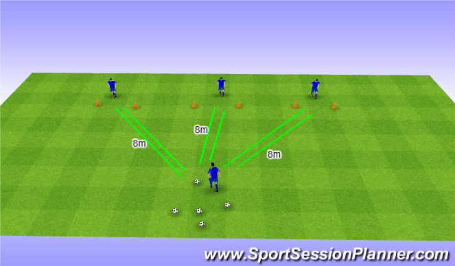 Football/Soccer Session Plan Drill (Colour): pass en trappen | handelingssnelheid