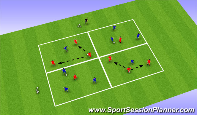 Football/Soccer Session Plan Drill (Colour): Practice Task