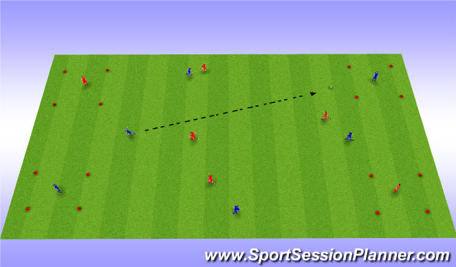 Football/Soccer Session Plan Drill (Colour): Game based