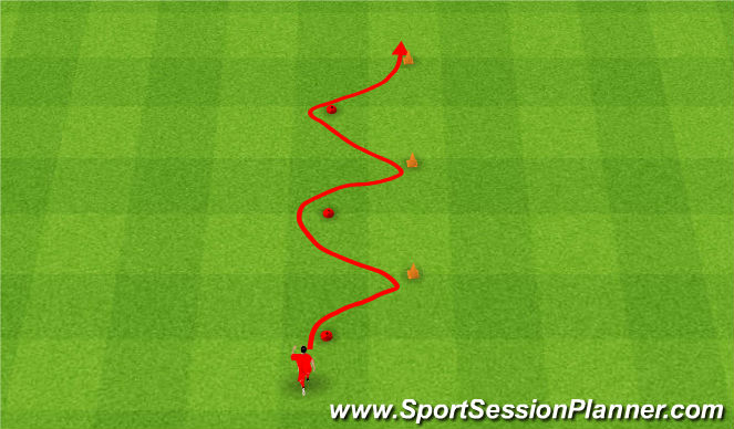 Football/Soccer Session Plan Drill (Colour): Zwinność.