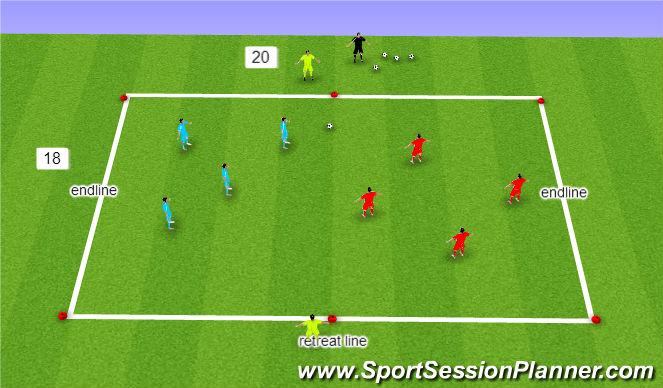 Football/Soccer Session Plan Drill (Colour): 4 v 4 SSA