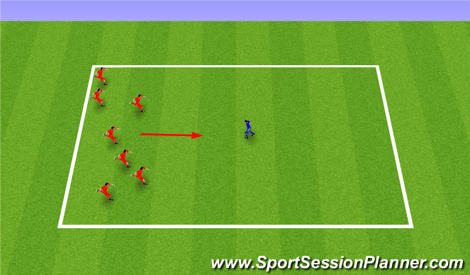 Football/Soccer Session Plan Drill (Colour): Warm up - bulldog