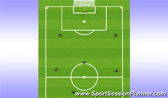 Football/Soccer Session Plan Drill (Colour): Mini Field Funtional and Game