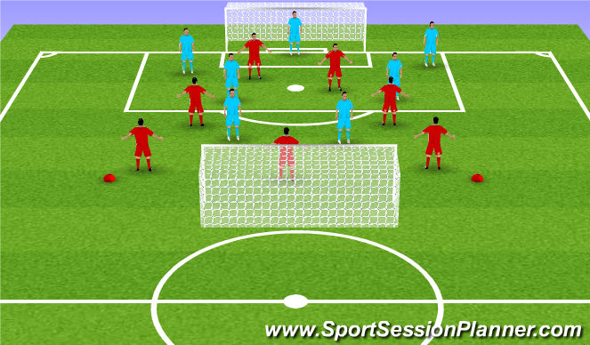 Football/Soccer Session Plan Drill (Colour): King Louis