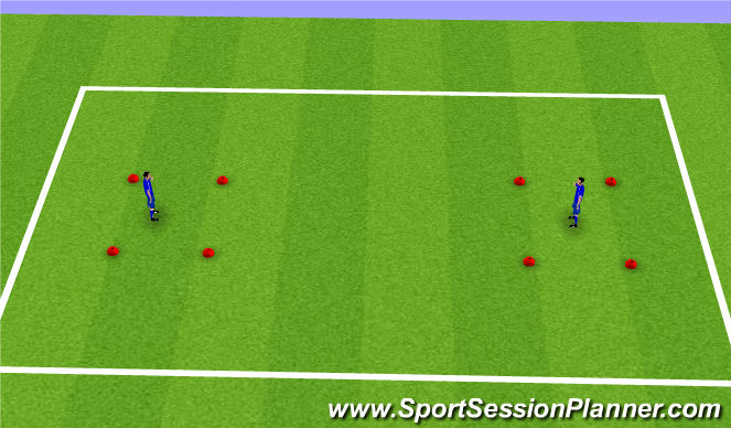 Football/Soccer Session Plan Drill (Colour): Ball Control - Warm up game