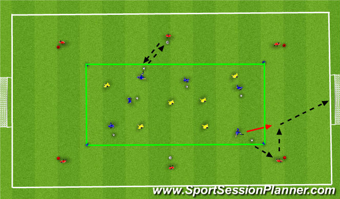 Football/Soccer Session Plan Drill (Colour): Team Game