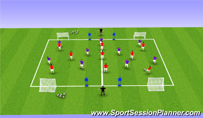 Football/Soccer Session Plan Drill (Colour): Encouaging Creativity