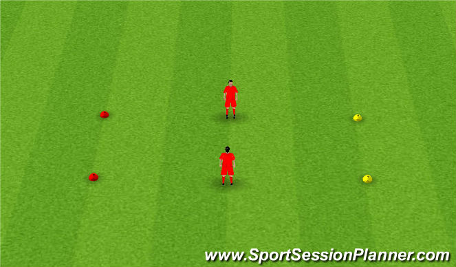 Football/Soccer Session Plan Drill (Colour): Warm up - copycat