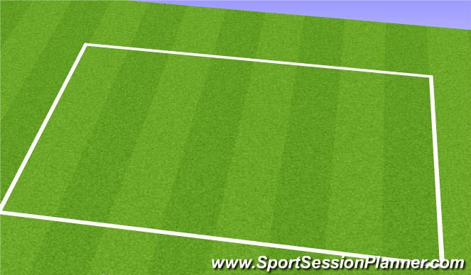 Football/Soccer Session Plan Drill (Colour): Between Lines/Behind To Space