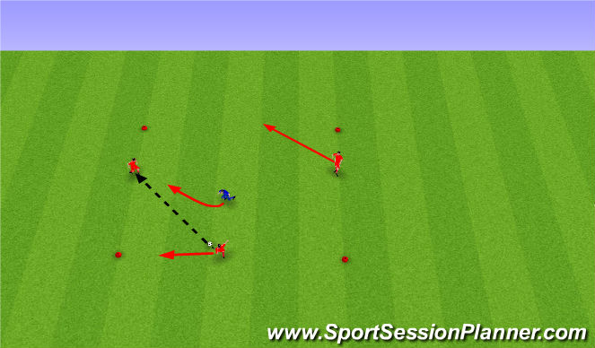 Football/Soccer Session Plan Drill (Colour): Reitabolti